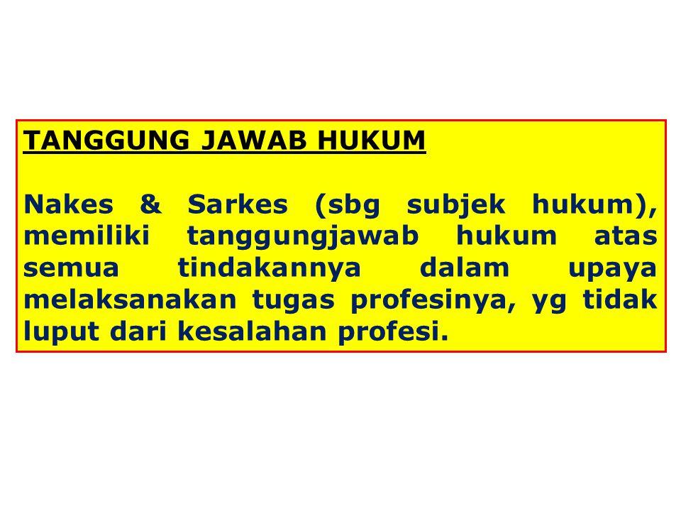 TANGGUNG JAWAB HUKUM