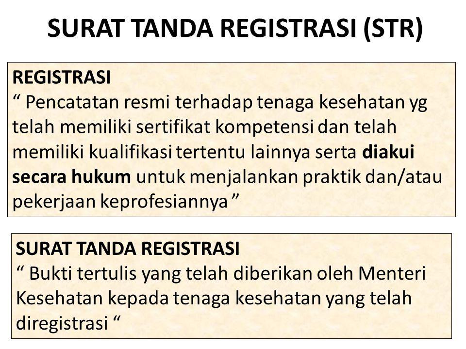 SURAT TANDA REGISTRASI (STR)