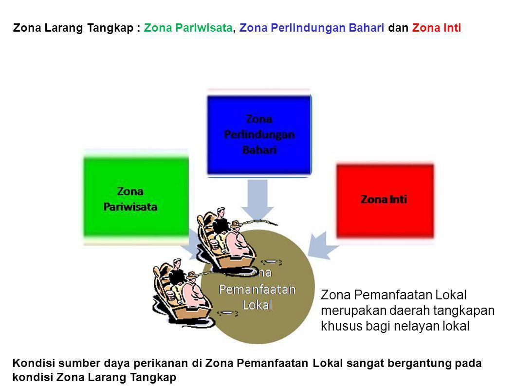 Zona Larang Tangkap : Zona Pariwisata, Zona Perlindungan Bahari dan Zona Inti