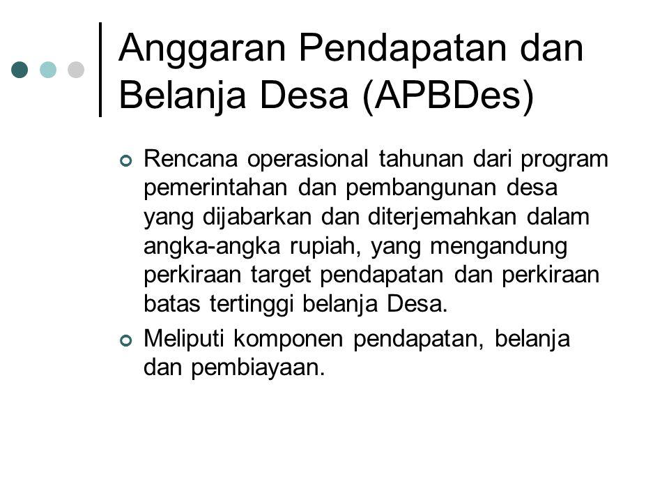 Anggaran Pendapatan dan Belanja Desa (APBDes)