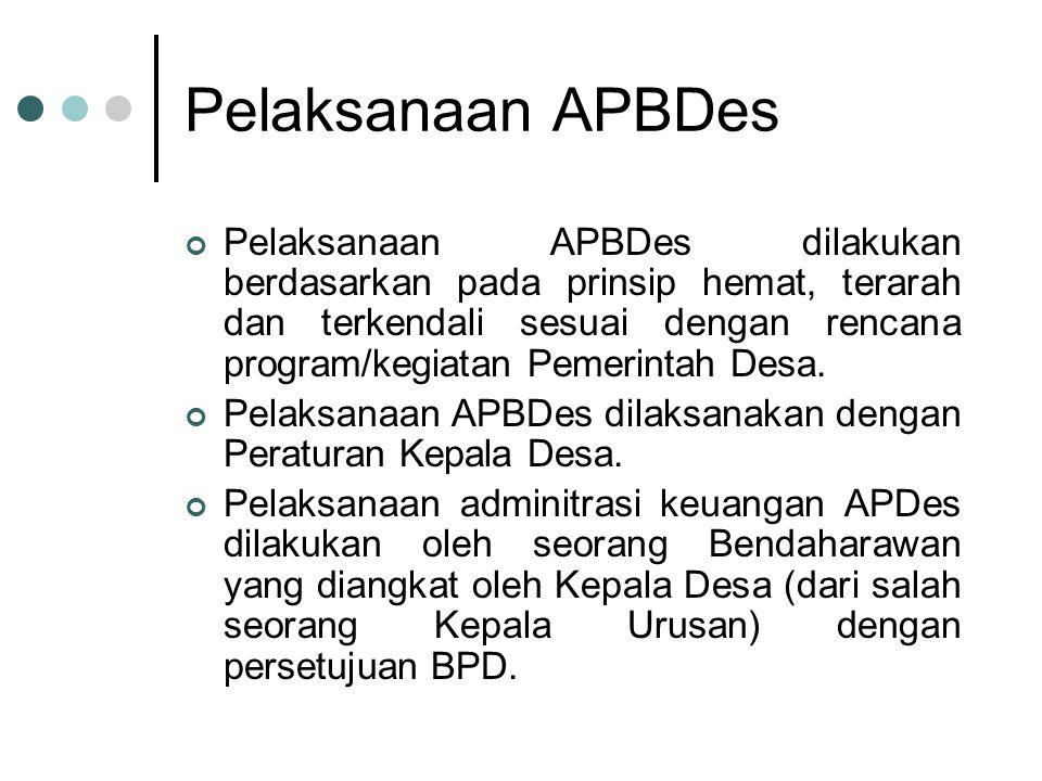 Pelaksanaan APBDes