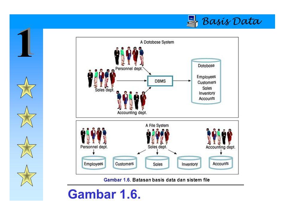Gambar 1.6. Batasan basis data dan sistem file
