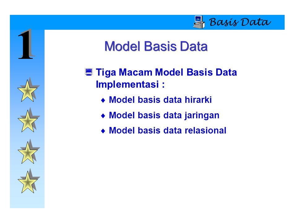 1 Model Basis Data Basis Data