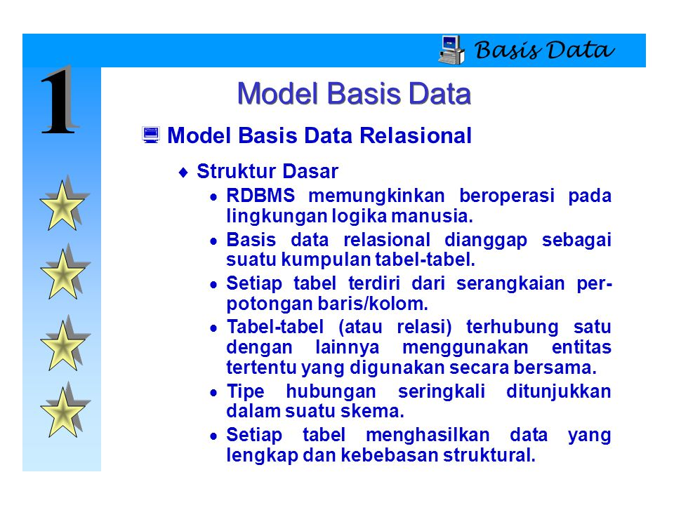 1 Model Basis Data Basis Data Model Basis Data Relasional