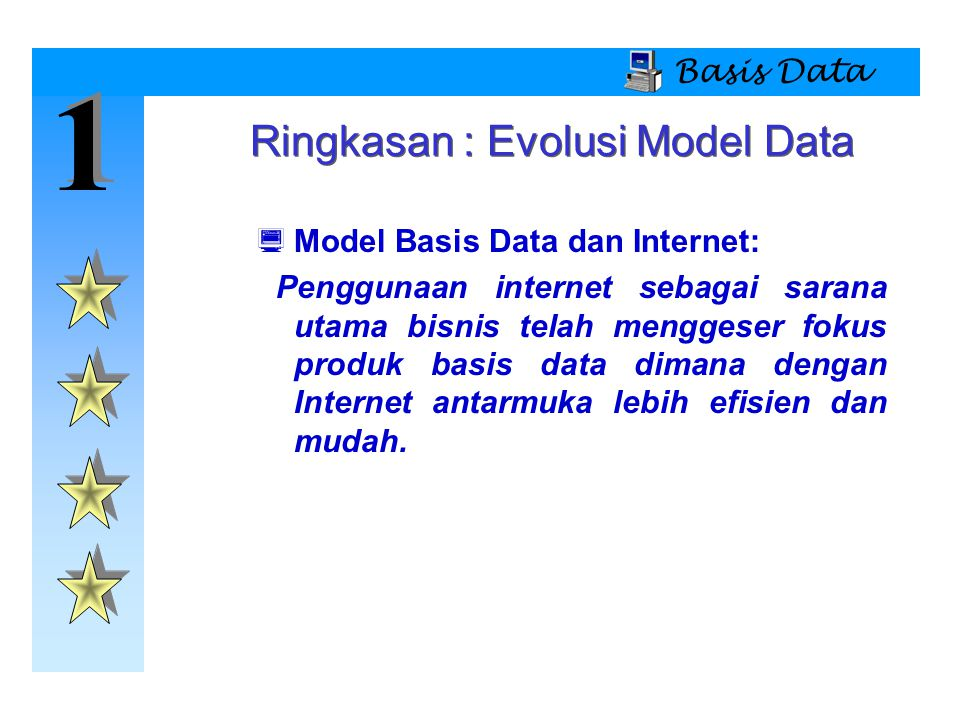 Ringkasan : Evolusi Model Data