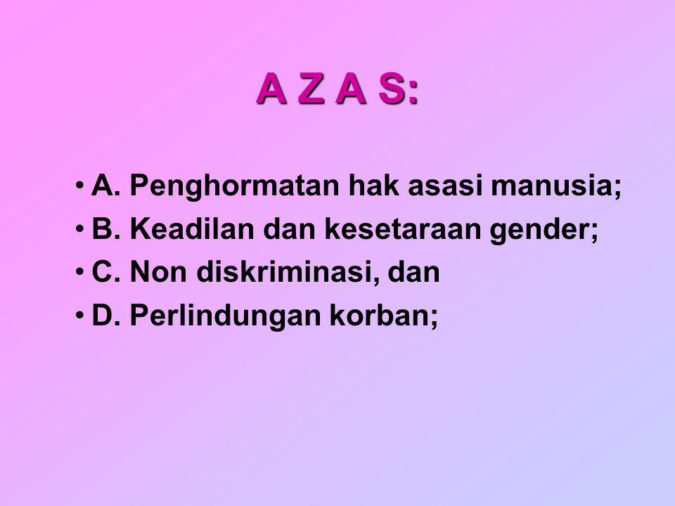 A Z A S: A. Penghormatan hak asasi manusia;