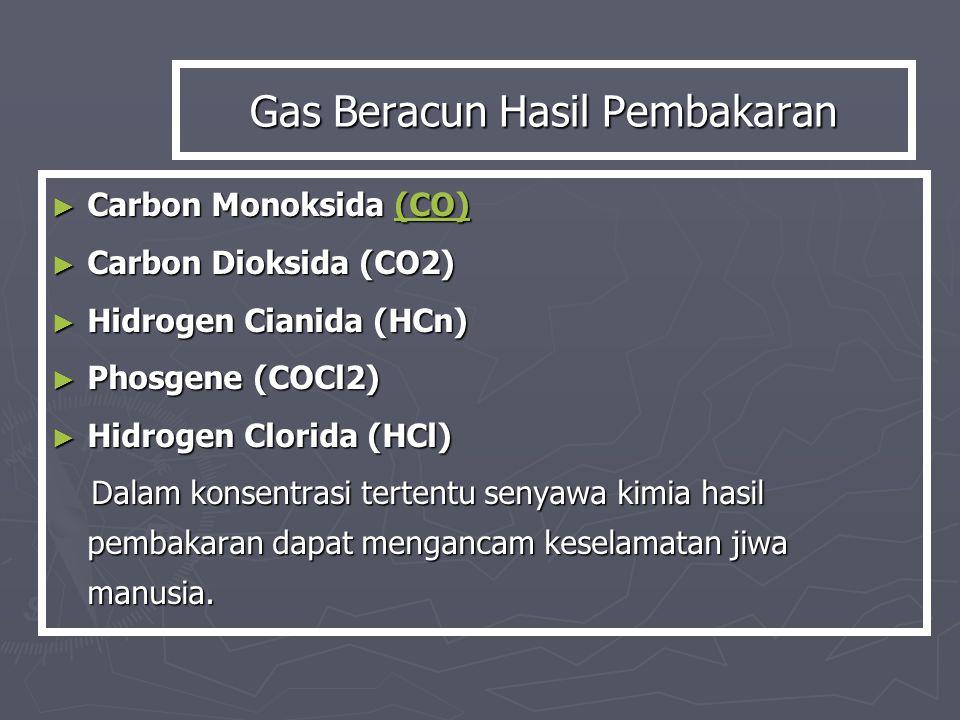 Gas Beracun Hasil Pembakaran