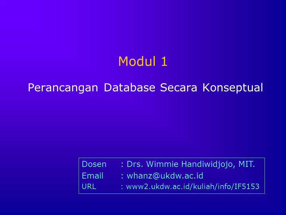 Perancangan Database Secara Konseptual