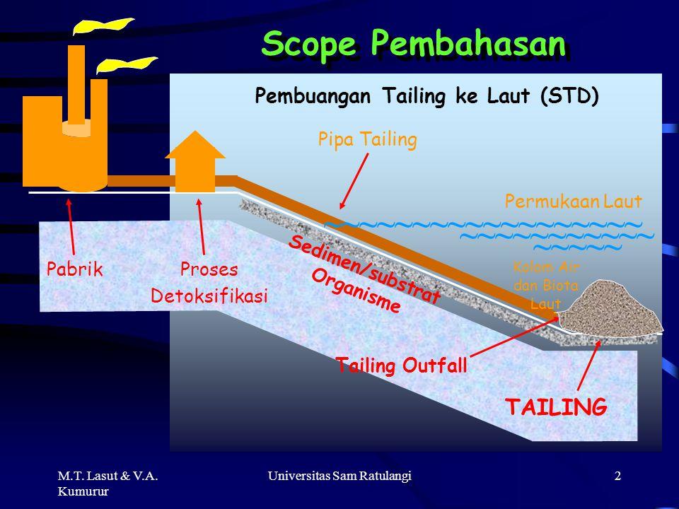 Sedimen/substrat Organisme Pembuangan Tailing ke Laut (STD)