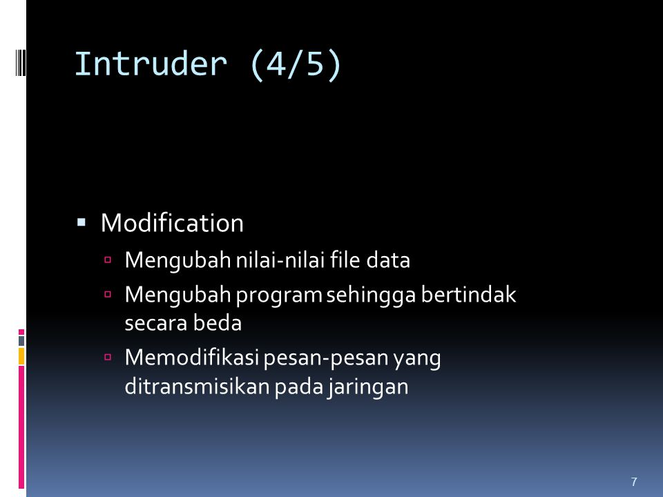 Intruder (4/5) Modification Mengubah nilai-nilai file data