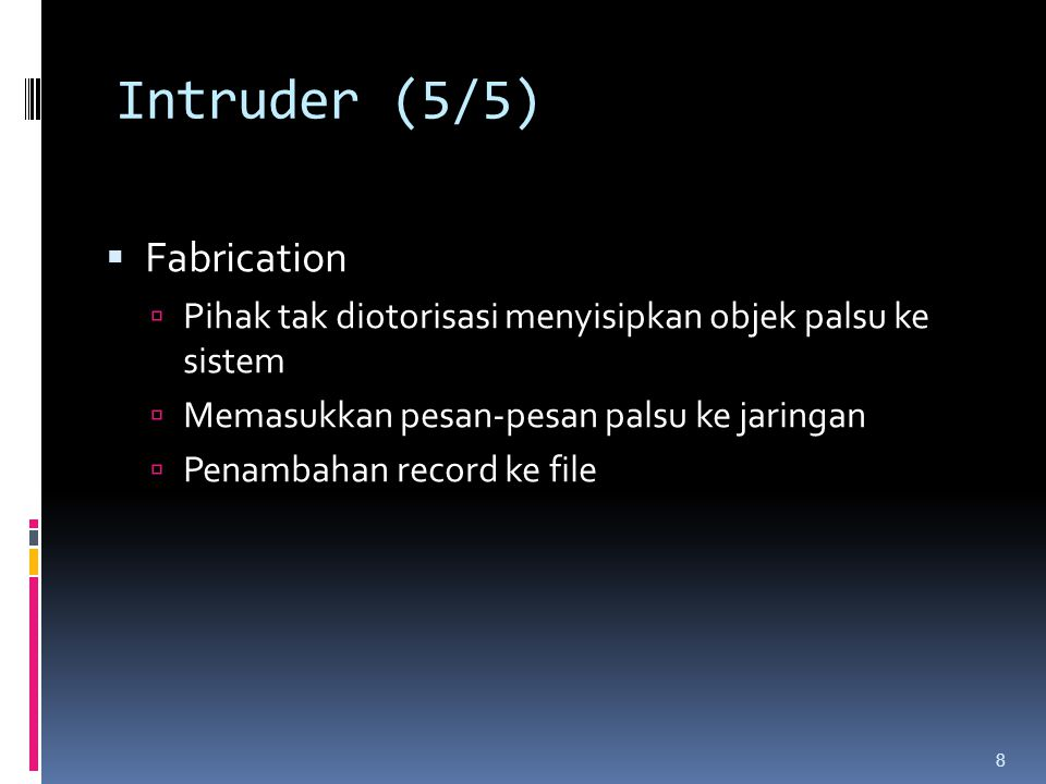 Intruder (5/5) Fabrication