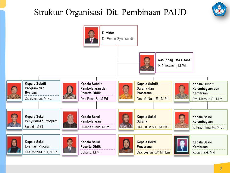 Struktur Organisasi Dit. Pembinaan PAUD
