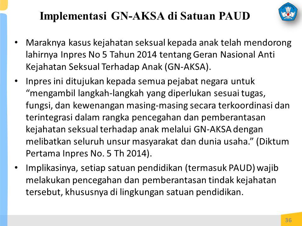 Implementasi GN-AKSA di Satuan PAUD