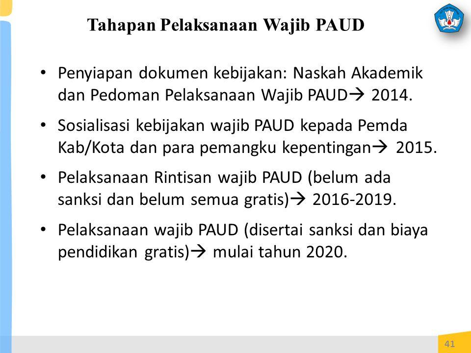 Tahapan Pelaksanaan Wajib PAUD