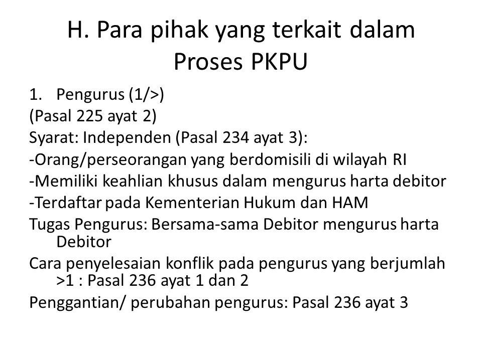 H. Para pihak yang terkait dalam Proses PKPU