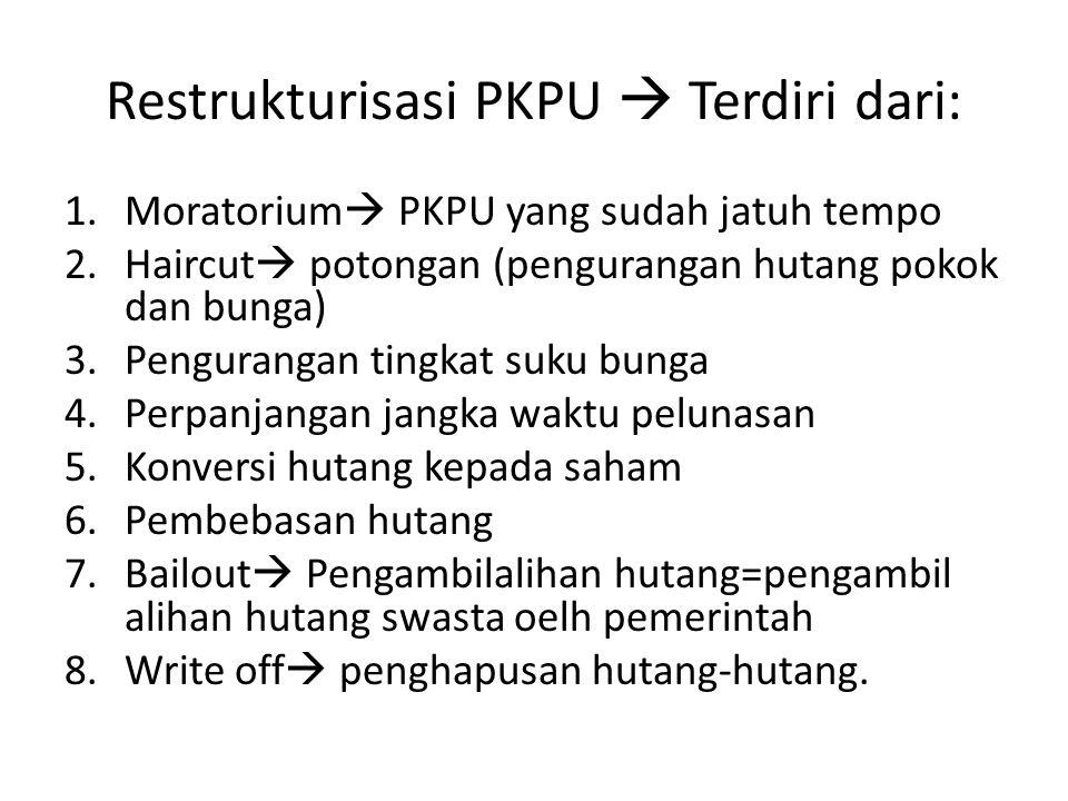 Restrukturisasi PKPU  Terdiri dari: