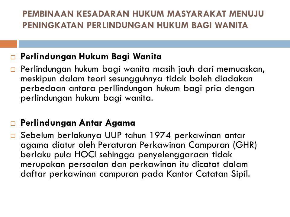 Perlindungan Hukum Bagi Wanita