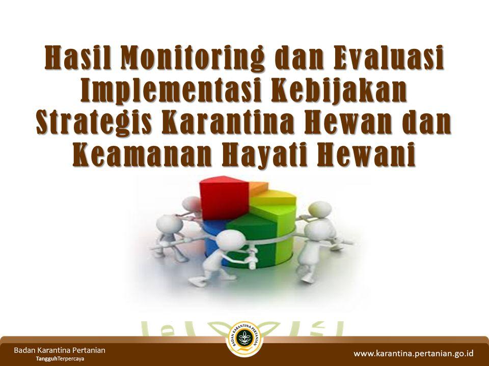 Hasil Monitoring dan Evaluasi Implementasi Kebijakan Strategis Karantina Hewan dan Keamanan Hayati Hewani