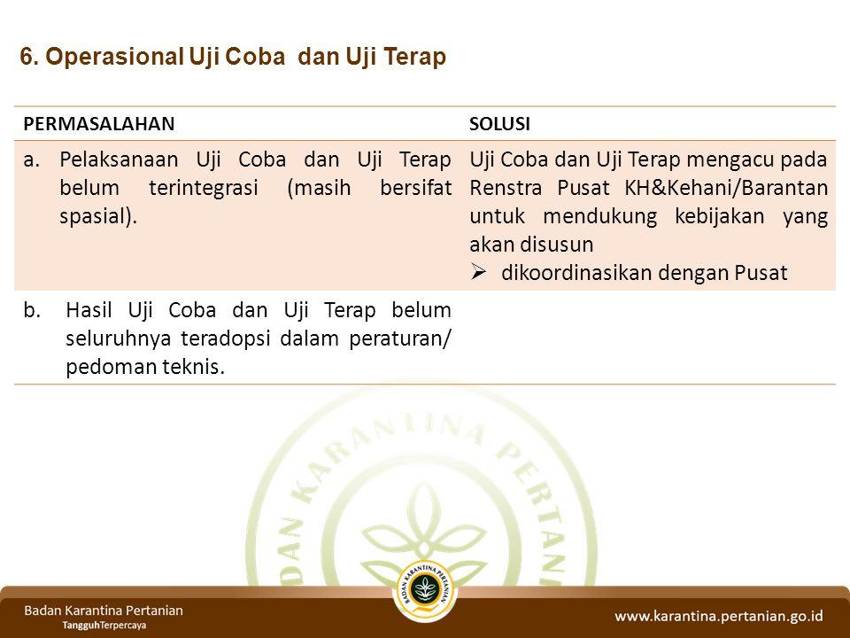 6. Operasional Uji Coba dan Uji Terap