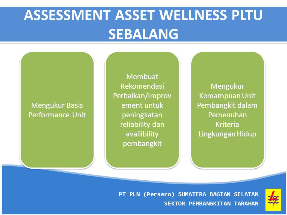 ASSESSMENT ASSET WELLNESS PLTU SEBALANG