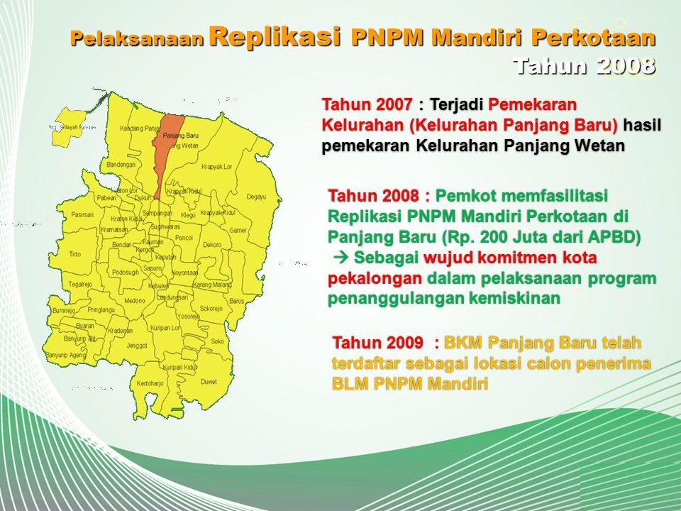 Tahun 2008 Pelaksanaan Replikasi PNPM Mandiri Perkotaan