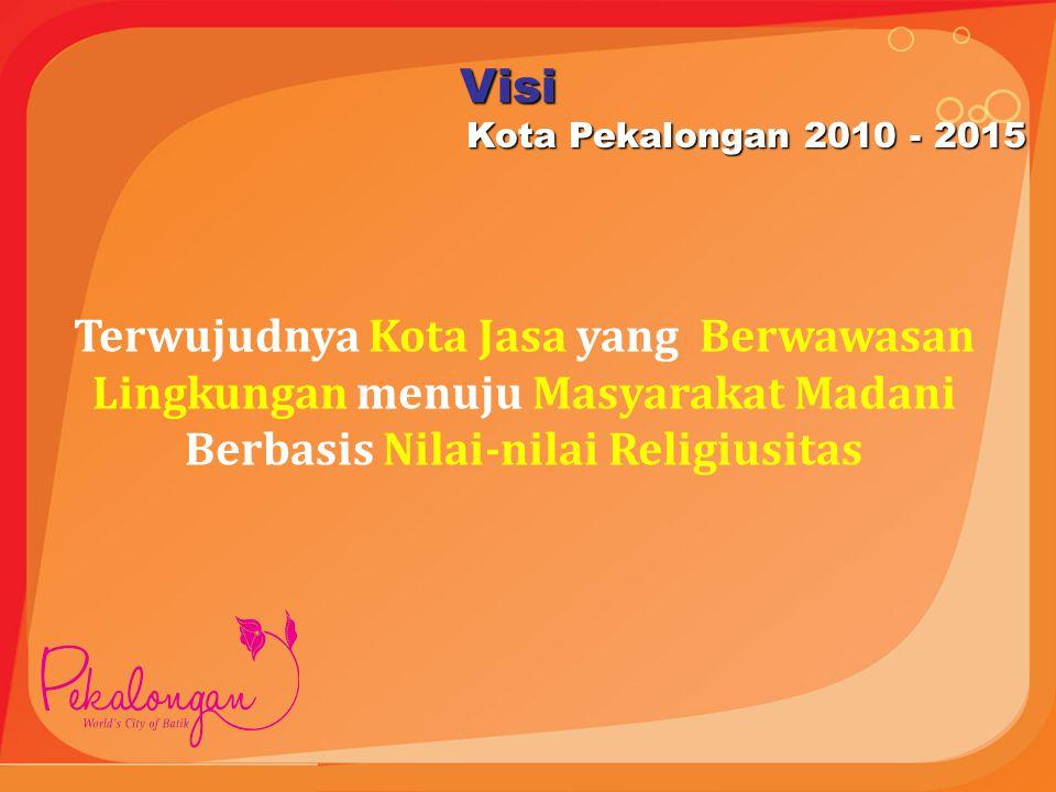 Visi Kota Pekalongan 2010 - 2015.
