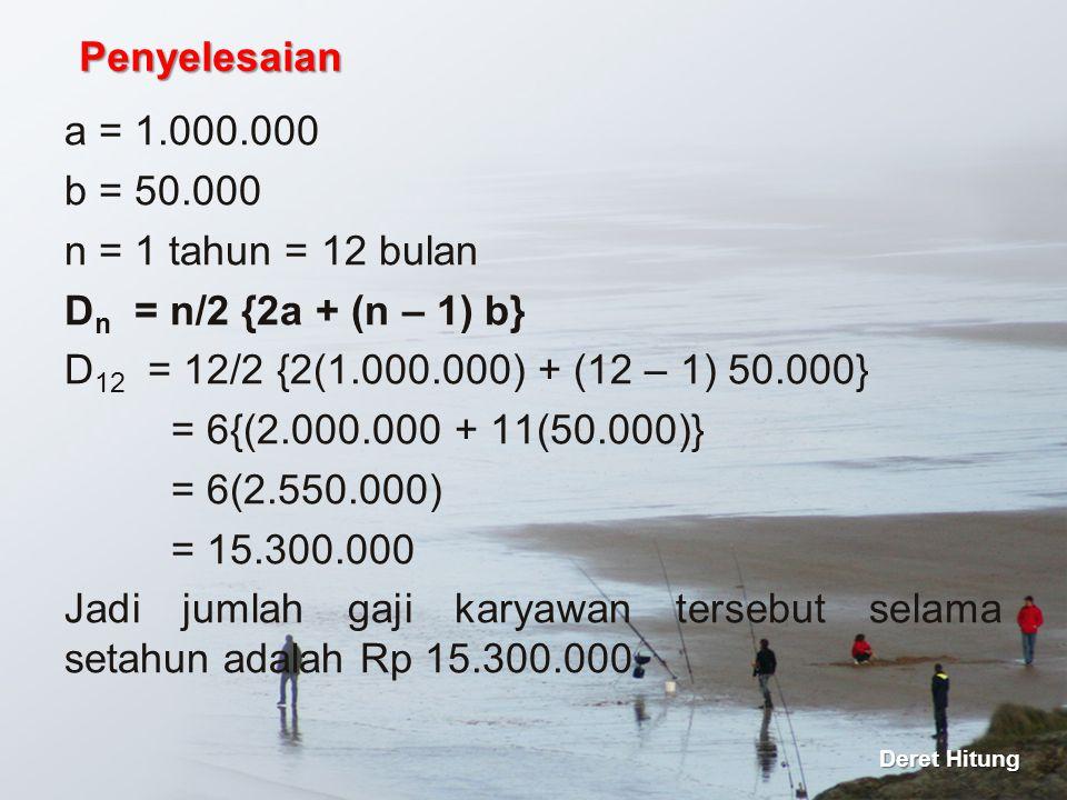 Jadi jumlah gaji karyawan tersebut selama setahun adalah Rp 15.300.000