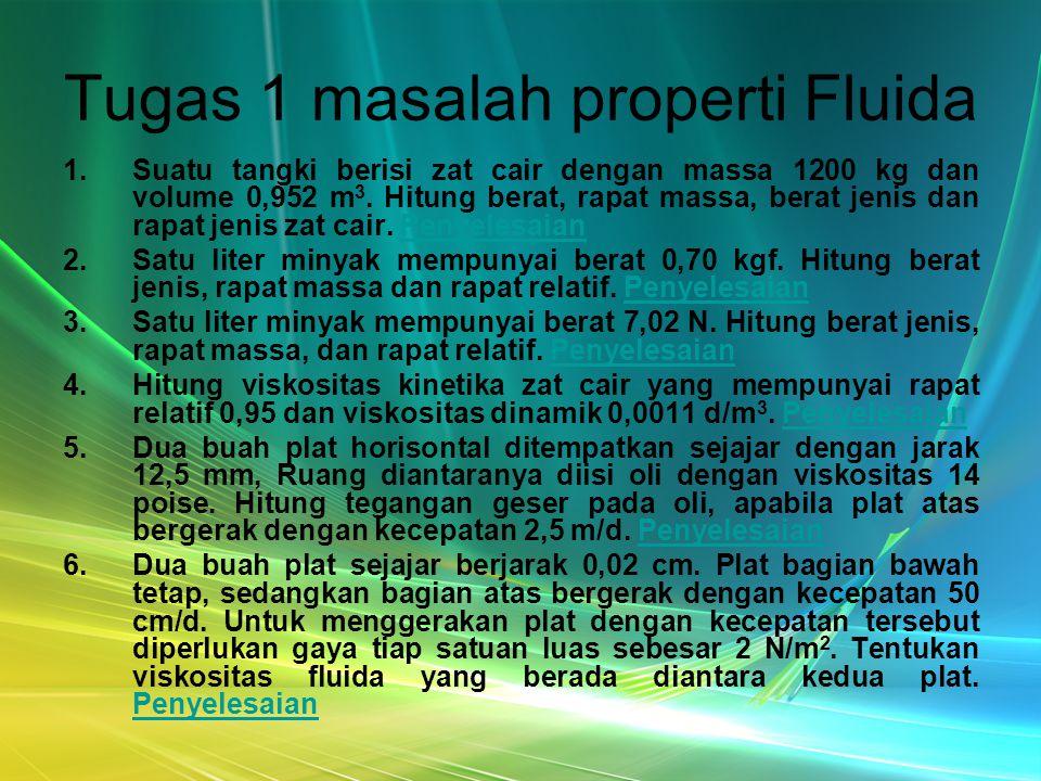Tugas 1 masalah properti Fluida
