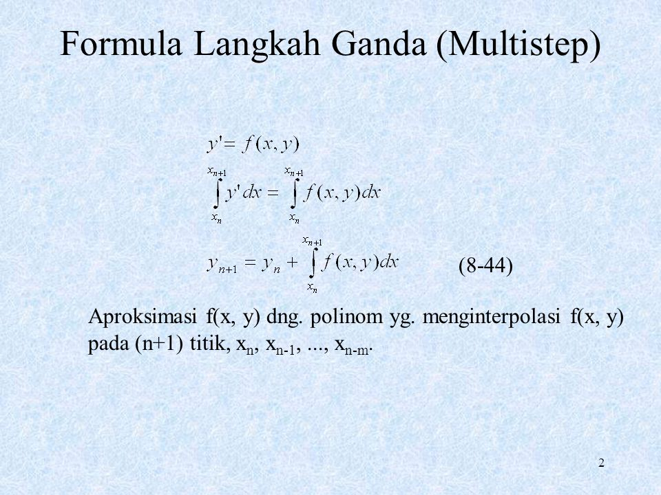 Formula Langkah Ganda (Multistep)
