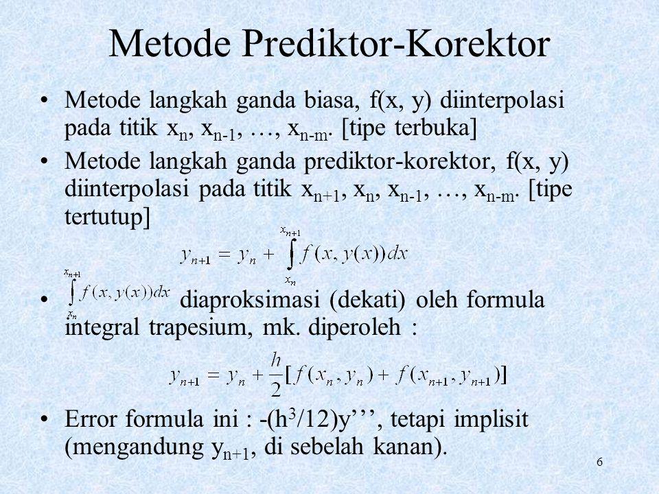 Metode Prediktor-Korektor
