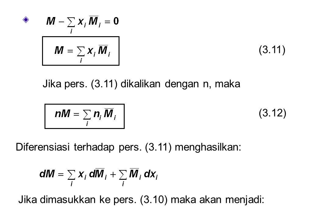 (3.11) Jika pers. (3.11) dikalikan dengan n, maka. (3.12) Diferensiasi terhadap pers. (3.11) menghasilkan: