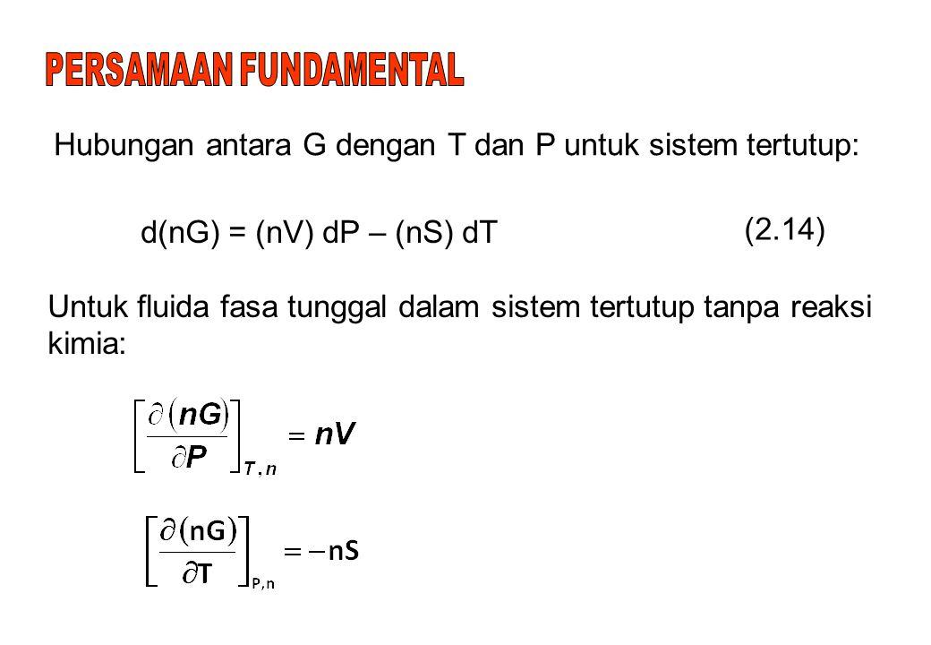 PERSAMAAN FUNDAMENTAL