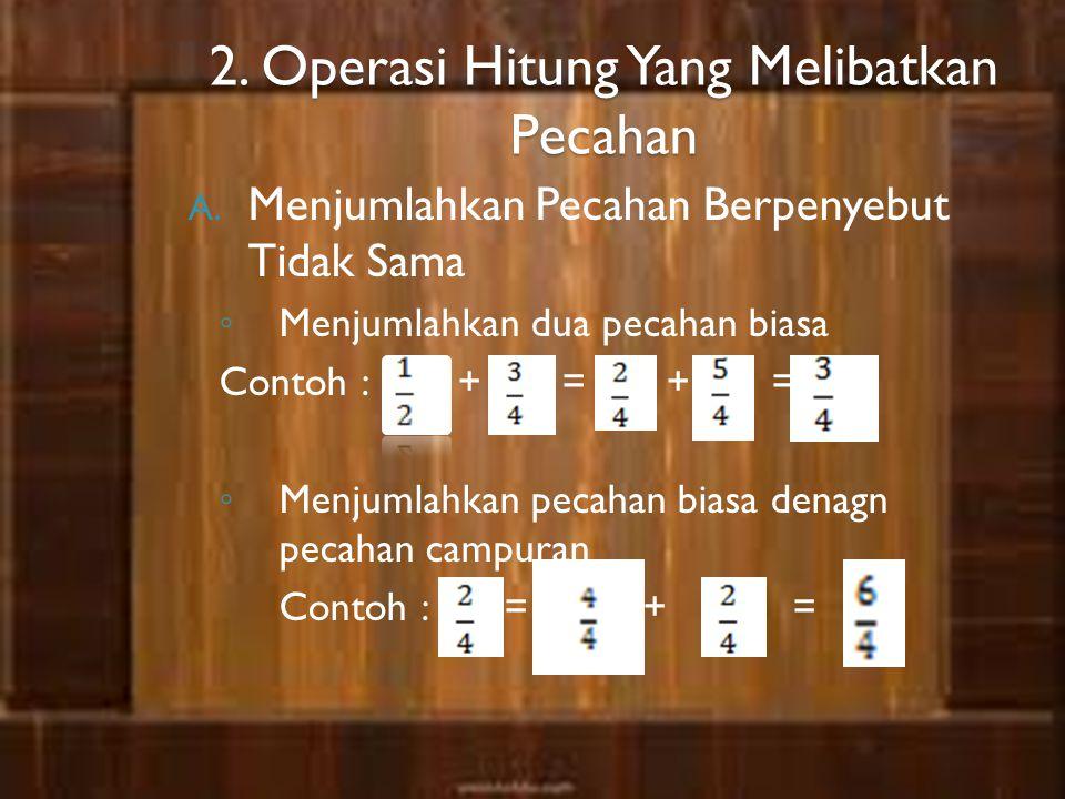 2. Operasi Hitung Yang Melibatkan Pecahan