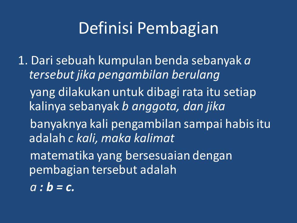 Definisi Pembagian