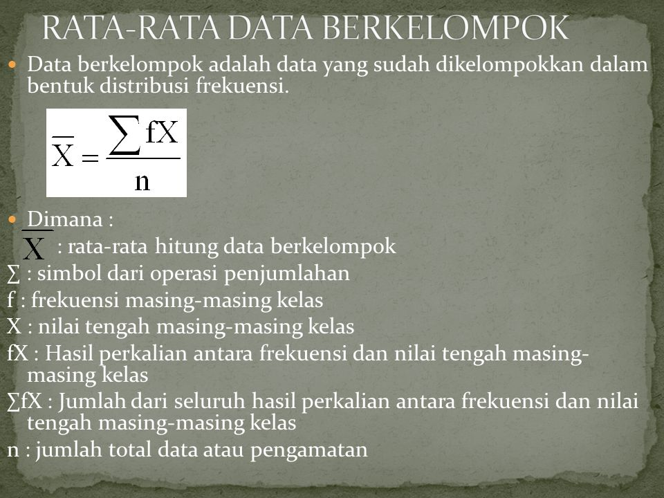 RATA-RATA DATA BERKELOMPOK