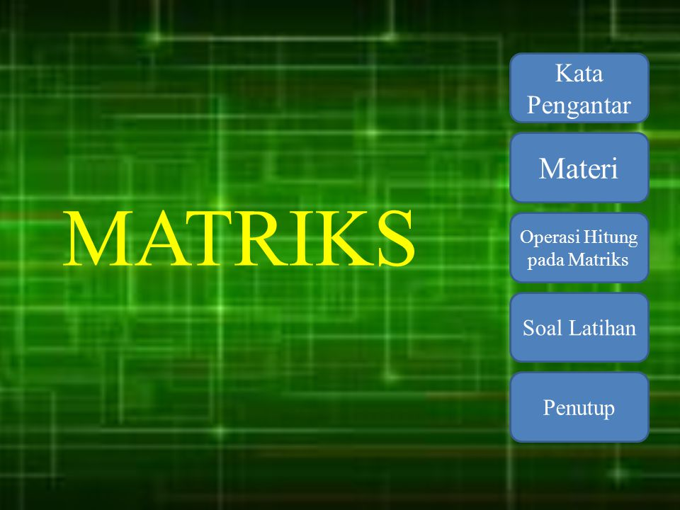 Operasi Hitung pada Matriks