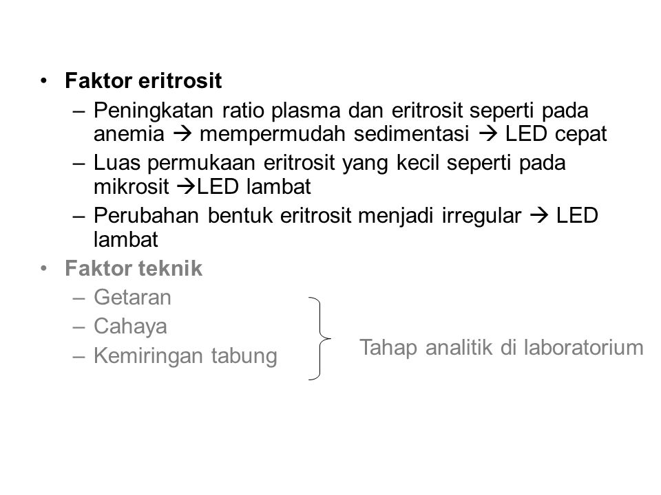 Tahap analitik di laboratorium