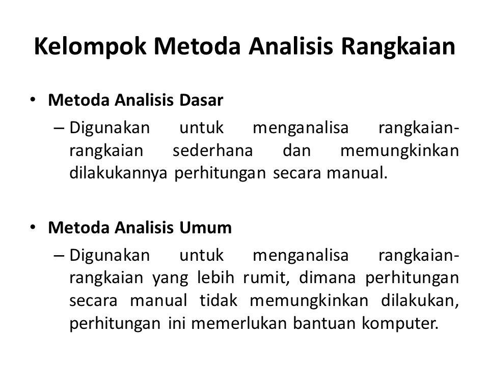 Kelompok Metoda Analisis Rangkaian