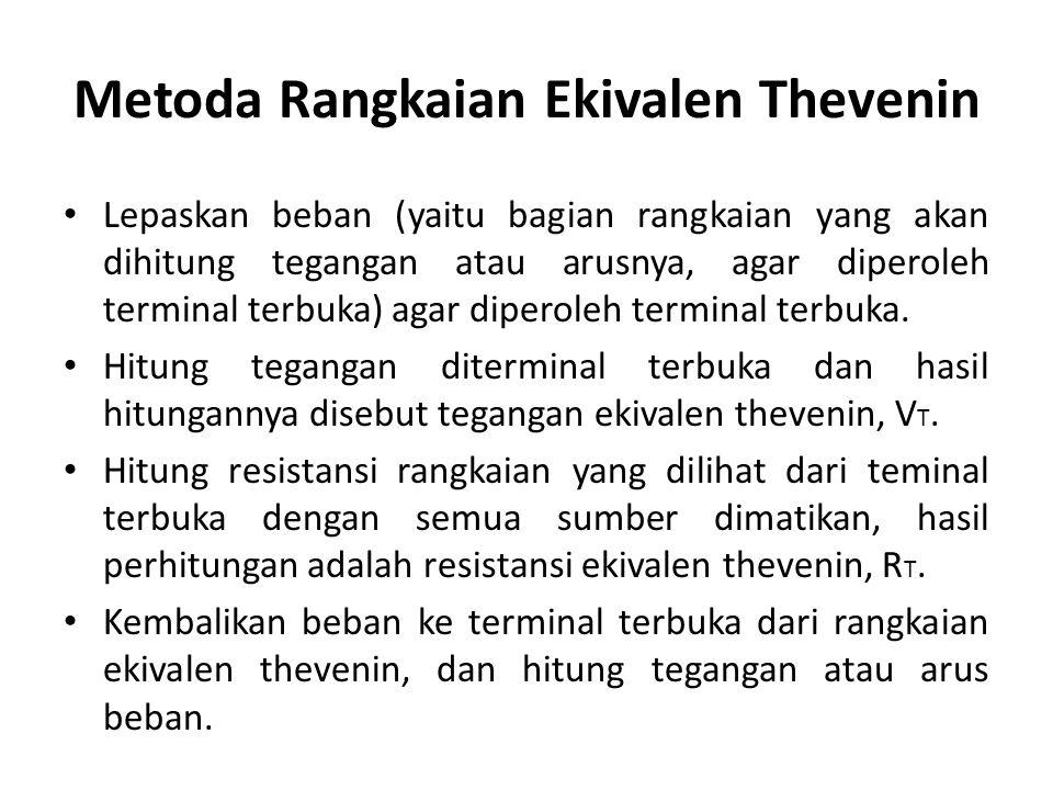 Metoda Rangkaian Ekivalen Thevenin