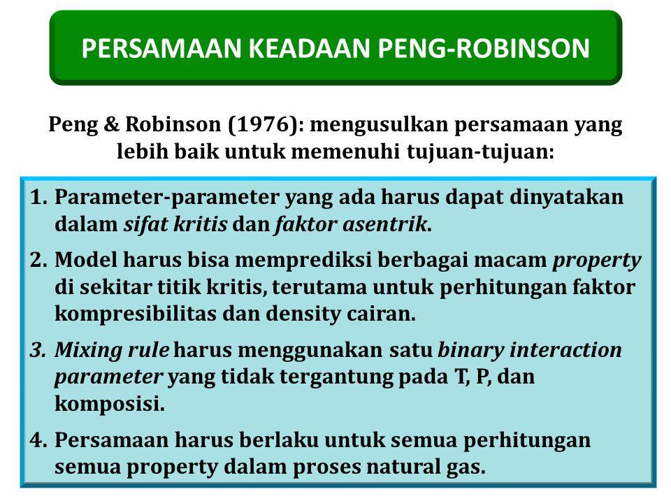PERSAMAAN KEADAAN PENG-ROBINSON