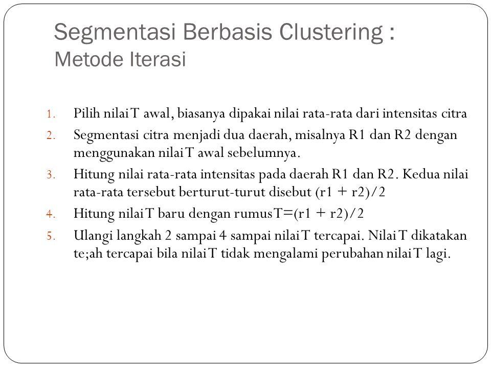 Segmentasi Berbasis Clustering : Metode Iterasi