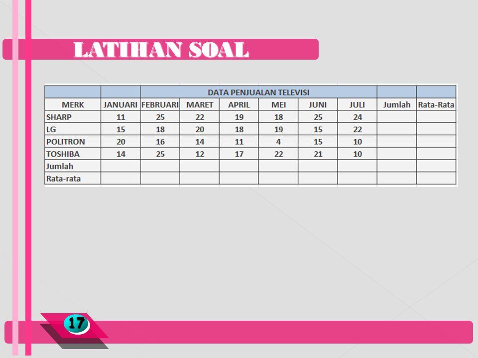 LATIHAN SOAL 17