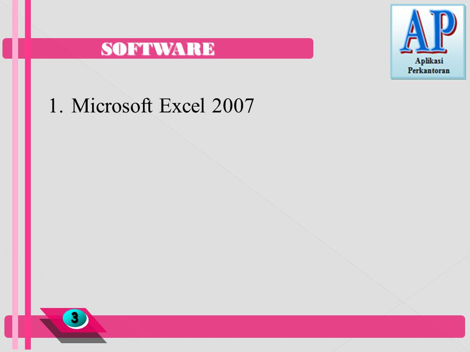 SOFTWARE Microsoft Excel 2007 3