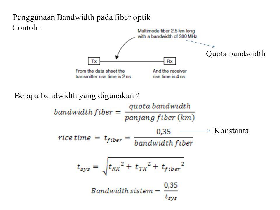 Penggunaan Bandwidth pada fiber optik