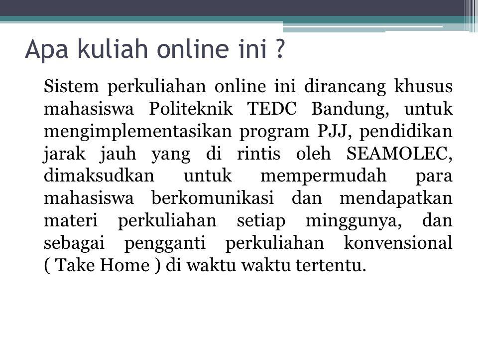 Apa kuliah online ini