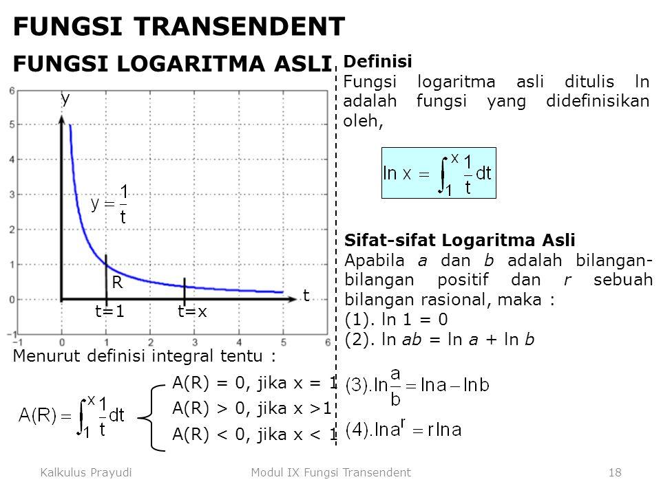 Modul IX Fungsi Transendent
