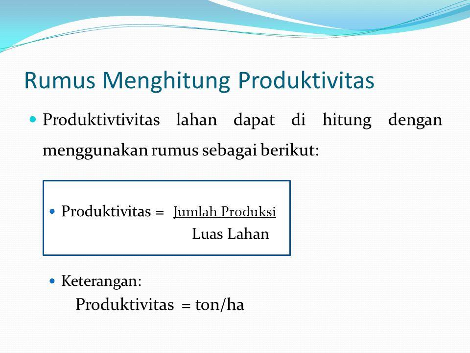 Rumus Menghitung Produktivitas
