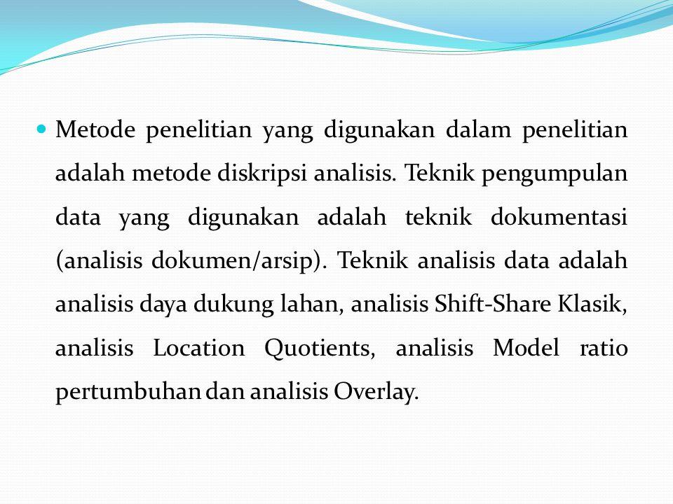 Metode penelitian yang digunakan dalam penelitian adalah metode diskripsi analisis.