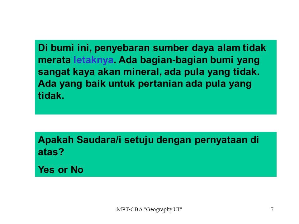 Apakah Saudara/i setuju dengan pernyataan di atas Yes or No