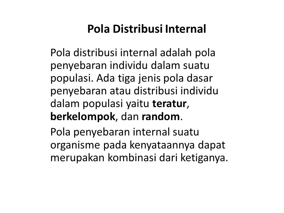 Pola Distribusi Internal